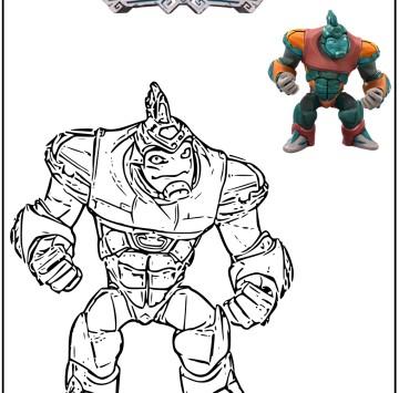 Gormiti disegni da colorare: colora Hydros - Cartoni animati