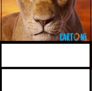 Il Re Leone invito compleanno Nala - Cartoni animati