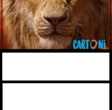 Il Re Leone invito compleanno Mufasa - Cartoni animati