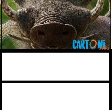 Il Re Leone invito compleanno Pumbaa - Cartoni animati