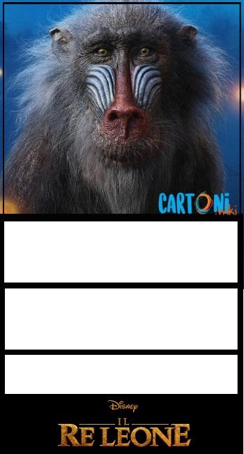 Il Re Leone invito compleanno Rafiki - Cartoni animati
