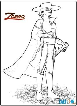 Zorro disegni da colorare
