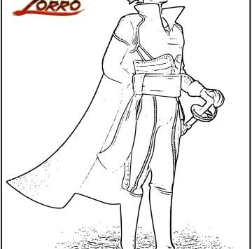 Zorro disegni da colorare - Cartoni animati