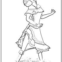 Colora Ines la sorella di Zorro - Disegni da colorare