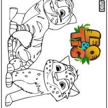 Leo & Tig disegni da colorare - Disegni da colorare