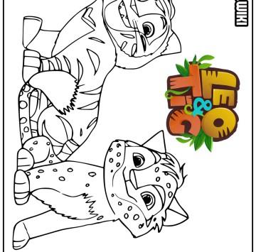 Leo & Tig disegni da colorare - Cartoni animati