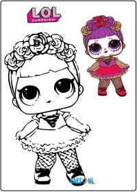 Bebè Bonita disegno da colorare LOL Surprise 4 - Stampa e colora