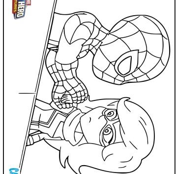 Disegno Spiderman e Miss Marvel  - Cartoni animati