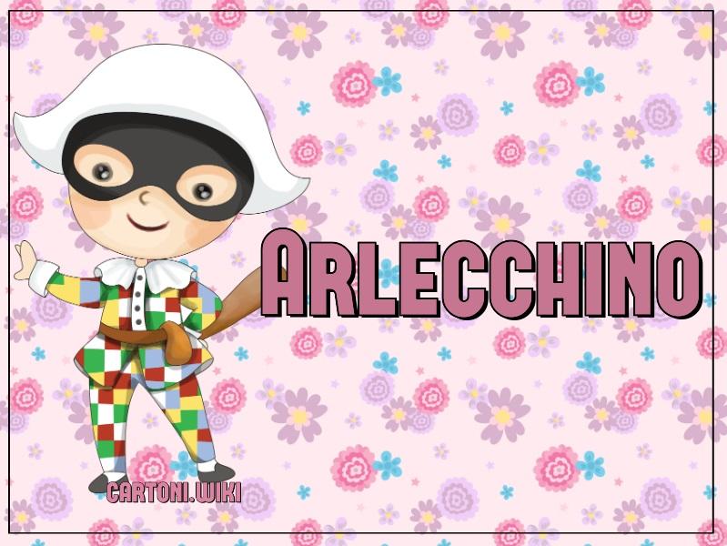 Maschera Arlecchino - Cartoni animati