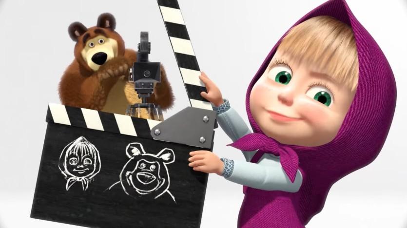 Masha e orso cartoni animati