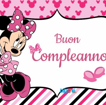 Minnie Buon Compleanno Cartoni Animati