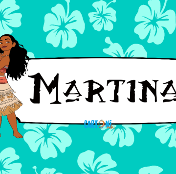Martina etichetta scuola Vaiana - Cartoni animati