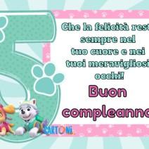 Buon compleanno 5 anni con i Paw PAtrol - Buon compleanno 5 anni