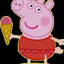 Peppa Pig con gelato e costume - Clipart