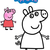 Peppa Pig disegni da colorare - Disegni da colorare