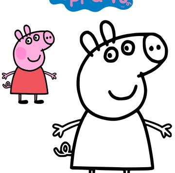 Peppa Pig disegni da colorare - Cartoni animati