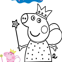 Colora Peppa Pig fatina - Stampa e colora