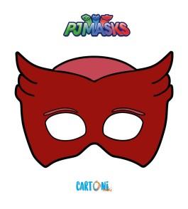 Pj Masks - Stampa la maschera di Gufetta