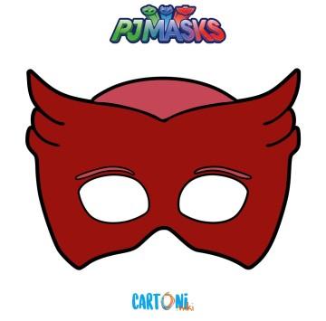 Pj Masks - Stampa la maschera di Gufetta - Cartoni animati