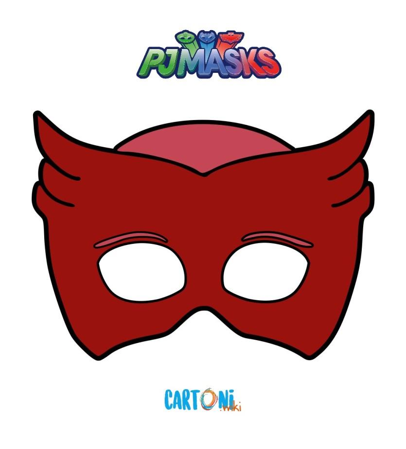 Pj masks stampa la maschera di gufetta cartoni animati for Maschere stampabili