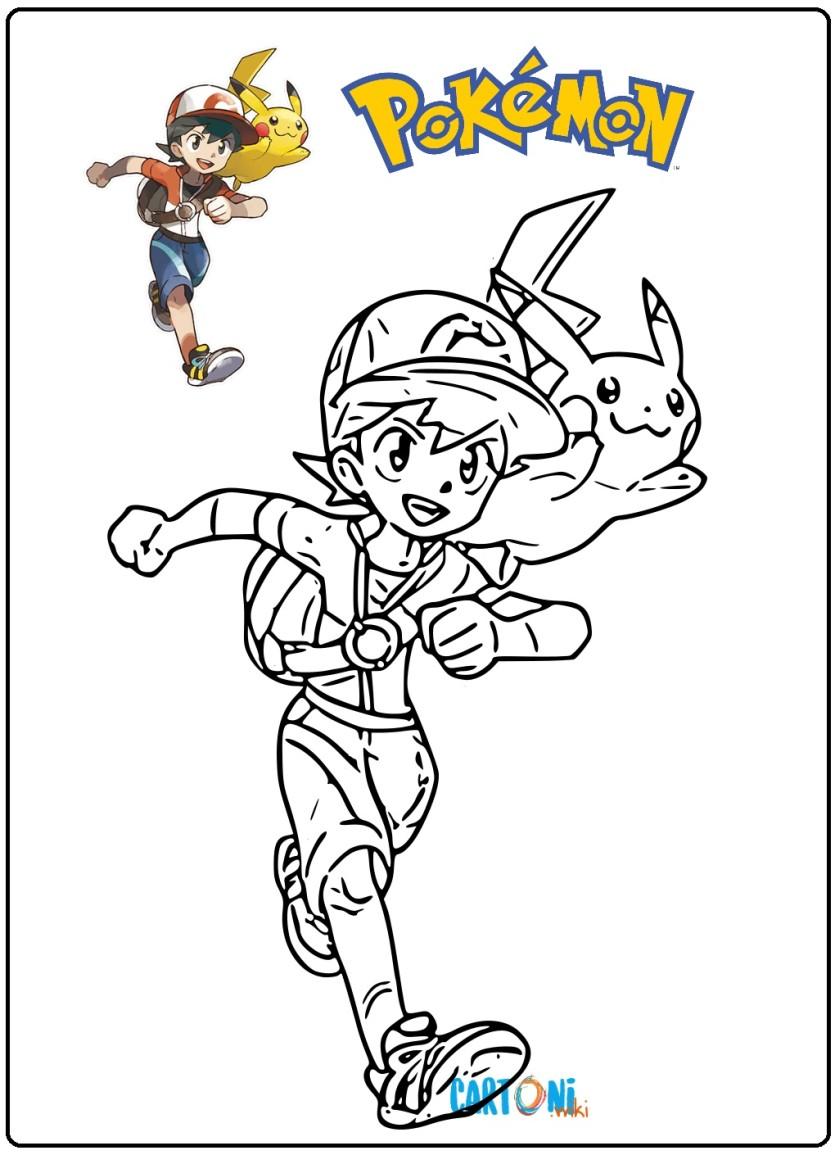 Pok mon disegni da colorare cartoni animati for Immagini sole da colorare
