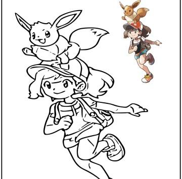 Pokémon Let's Go, Eevee da colorare - Cartoni animati