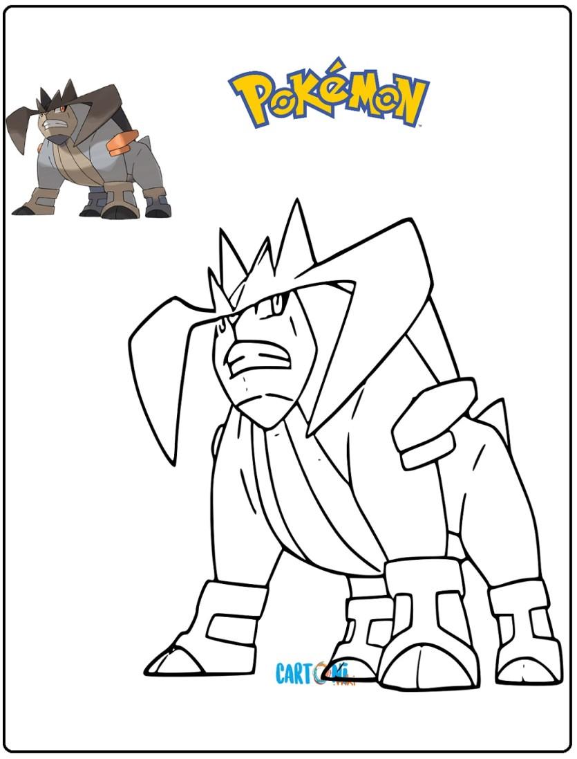 Pokémon Disegno Trebbian Da Colorare Cartoni Animati