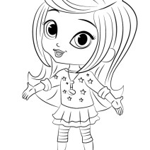 Colora Leah di Shimmer and Shine - Disegni da colorare