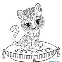 Colora Nahal la tigre del Bengala - Disegni da colorare