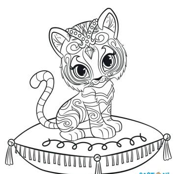 Colora Nahal la tigre del Bengala - Cartoni animati