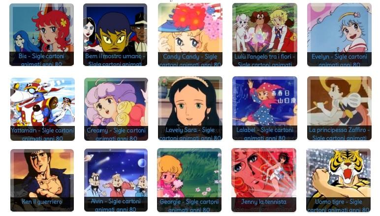 Le sigle dei cartoni animati di una volta - Cartoni animati