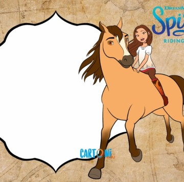 Spirit Riding Free Invito Whatsapp - Cartoni animati