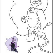 Steven Universe Ametista da colorare - Stampa e colora