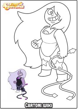 Steven Universe Ametista da colorare