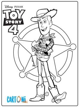 Toy Story 4 Disegni da colorare