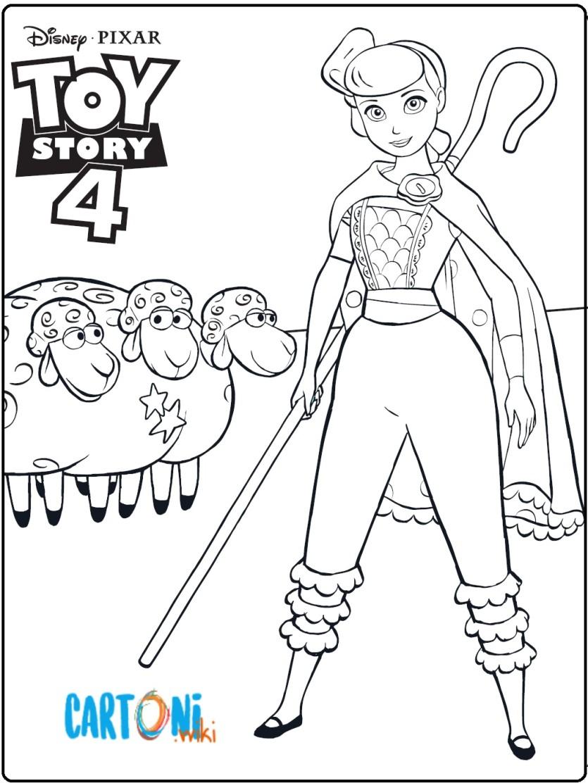 Toy Story 4 - Disegno Bo Peep da stampare e colorare - Cartoni animati