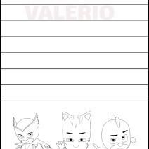 Valerio imparare a scrivere il nome - Valerio
