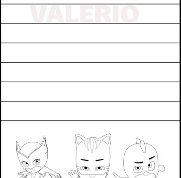 Valerio imparare a scrivere il nome - Cartoni animati
