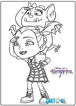 Disegno Vampirina e Gregoria