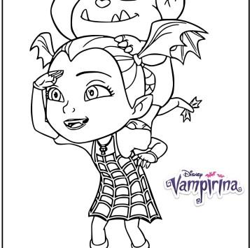 Disegno Vampirina e Gregoria - Cartoni animati