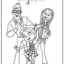 Colora Vampirina insieme ai genitori - Disegni da colorare