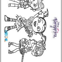 Colora Vampirina e le sue amiche Poppy e Bridget - Disegni da colorare