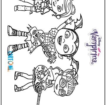 Colora Vampirina e le sue amiche Poppy e Bridget - Cartoni animati