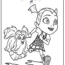 Colora Vampirina e il suo cane Wolfie - Disegni da colorare