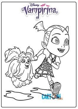 Colora Vampirina e il suo cane Wolfie