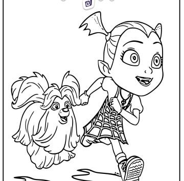 Colora Vampirina e il suo cane Wolfie - Cartoni animati