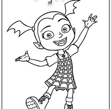 Vampirina disegno - Cartoni animati