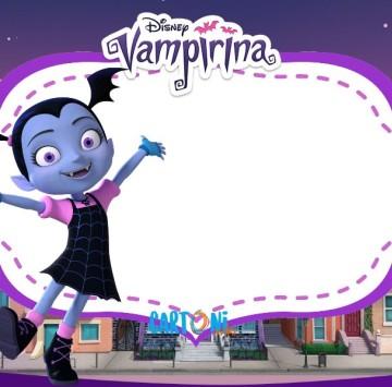 Vampirina Invito festa Compleanno  - Cartoni animati