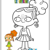 Disegno Izzy a tutto reality le origini - Izzy bambina - total dramarama coloring pages - total dramarama coloring book - total dramarama printable - a tutto reality le origini da stampare e colorare