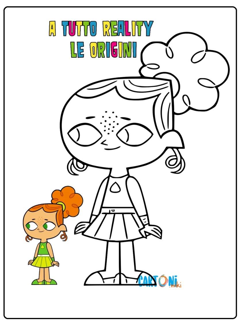Disegno Izzy a tutto reality le origini - Cartoni animati